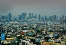 Panoramic View of poor and rich districts of Manila – photo by Renata Blonska