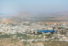 View on Pushkar from the top, border with Thar Desert - photo by Renata Blonska