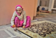 People behind our carpets: hand woven carpet shop - photo by Renata Blonska